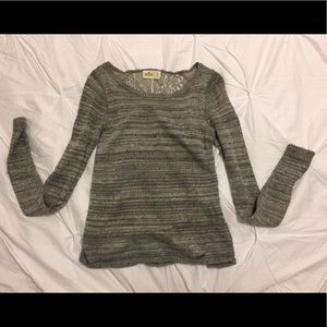 Gray Lace Hollister Sweater